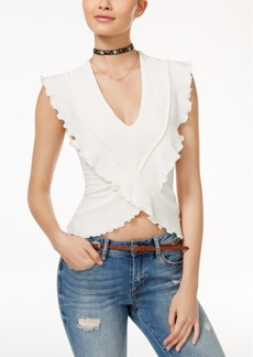 American Rag Juniors' Ruffled Crop Top, Only at Macy's