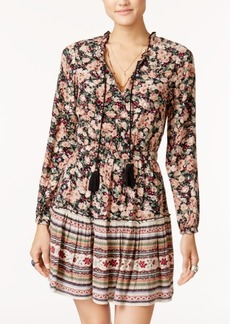 American Rag Juniors' Ruffled Mixed-Print Dress, Created for Macy's