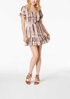 American Rag Juniors' Ruffled Tie-Dyed Dress, Created for Macy's