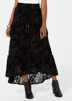 American Rag Juniors' Ruffled Velvet Burnout Maxi Skirt, Created for Macy's
