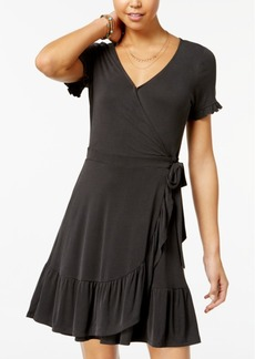 American Rag Juniors' Ruffled Wrap Dress, Created for Macy's