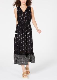 American Rag Juniors' Sleeveless Bib Maxi Dress, Created for Macy's