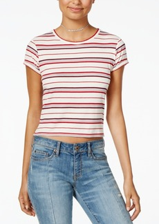American Rag Juniors' Striped Cropped Top, Created for Macy's