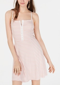 American Rag Juniors' Striped Fit & Flare Dress, Created for Macy's