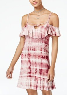 American Rag Juniors' Tie-Dyed Cold-Shoulder Dress, Created for Macy's