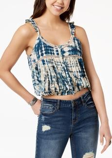 American Rag Juniors' Tie-Dyed Crop Top, Created for Macy's