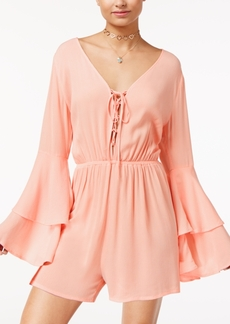 American Rag Juniors' Tiered Bell-Sleeve Romper, Created for Macy's