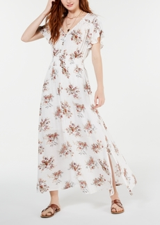 American Rag Juniors' Tulip-Sleeve Maxi Dress, Created for Macy's