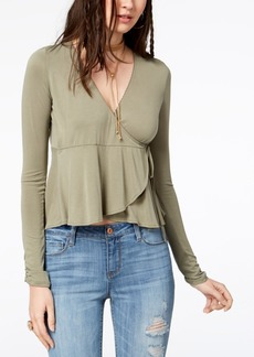 American Rag Juniors' Wrap Top, Created for Macy's