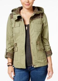 American Rag Knit-Trim Hooded Utility Jacket, Only at Macy's