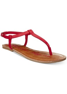 American Rag Krista T-Strap Flat Sandals, Created For Macy's Women's Shoes