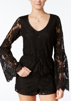 American Rag Lace Bell-Sleeve Romper, Only at Macy's