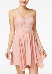 American Rag Lace-Inset Fit & Flare Dress, Only at Macy's