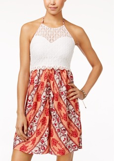 American Rag Lace Printed Halter Dress, Only at Macy's