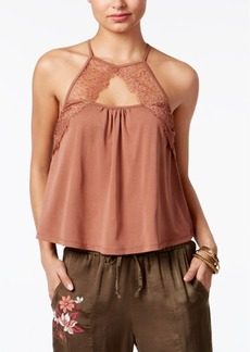 American Rag Lace-Trim Crop Top, Only at Macy's