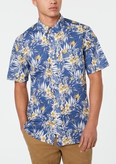 American Rag Men's Abstract Floral Shirt, Created for Macy's
