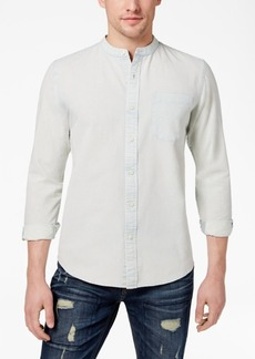 American Rag Men's Band Collar Denim Shirt, Created for Macy's
