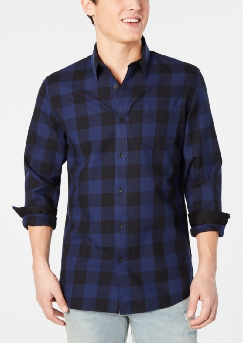 American Rag Men's Buffalo Plaid Pocket Shirt, Created for Macy's