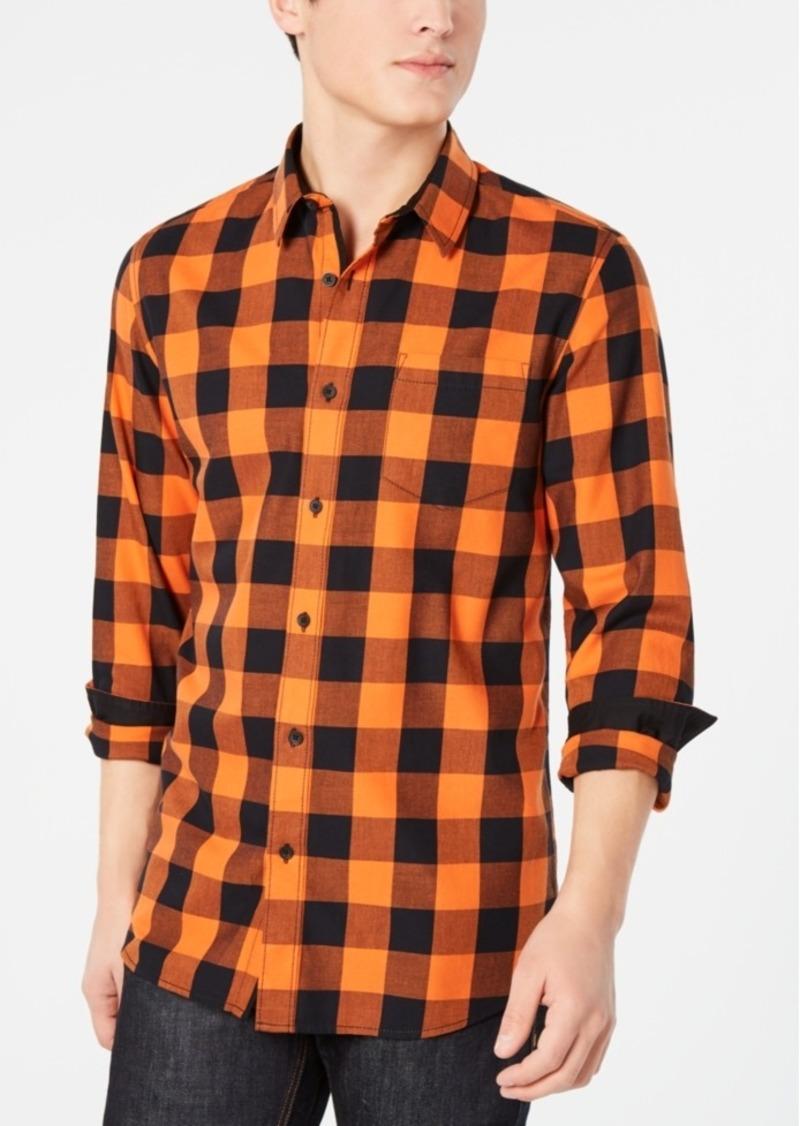American Rag Mens Buffalo Plaid Button Up Shirt