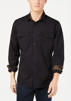 American Rag Men's Camo-Trim Shirt, Created for Macy's
