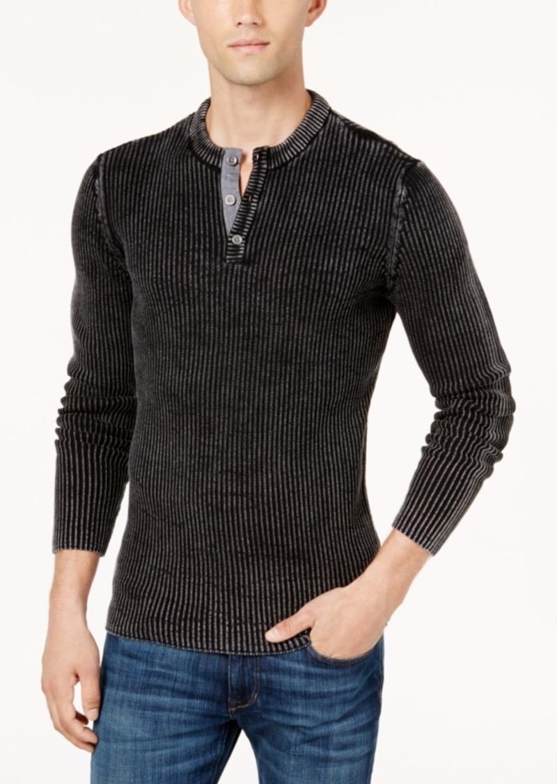 ebbcafc52 SALE! American Rag American Rag Men s Chambray Henley Sweater ...