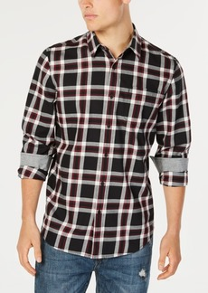 American Rag Men's Charlie Plaid Twill Shirt, Created for Macy's