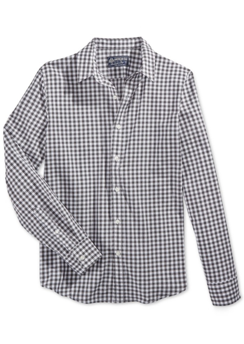 American Rag Men's Check Print Shirt, Only at Macy's
