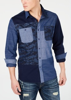 American Rag Men's Colorblocked Denim Shirt, Created for Macy's