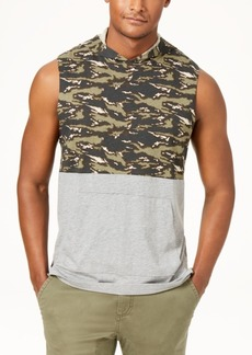 American Rag Men's Colorblocked Sleeveless Hoodie, Created for Macy's