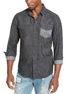 American Rag Men's Dark Chambray Shirt, Created For Macy's