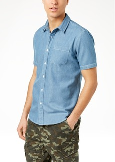 American Rag Men's Slim-Fit Denim Shirt, Created for Macy's