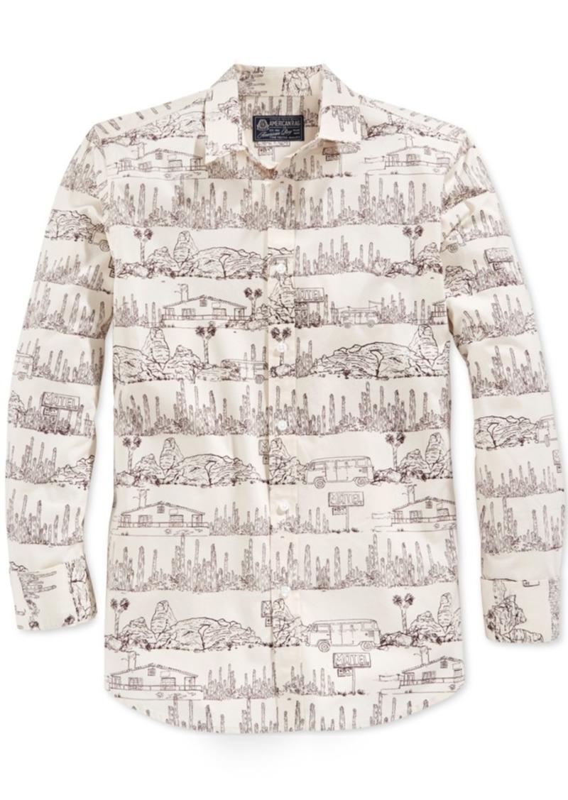American Rag Men's Desert-Print Long-Sleeve Shirt, Only at Macy's