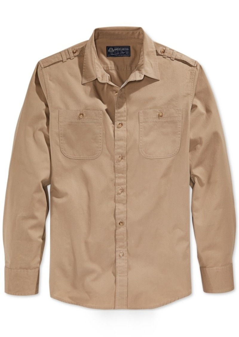 American Rag Men's Dual-Pocket Long-Sleeve Shirt, Only at Macy's