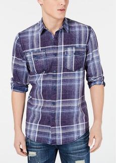 American Rag Men's Dual Pocket Plaid Shirt, Created for Macy's