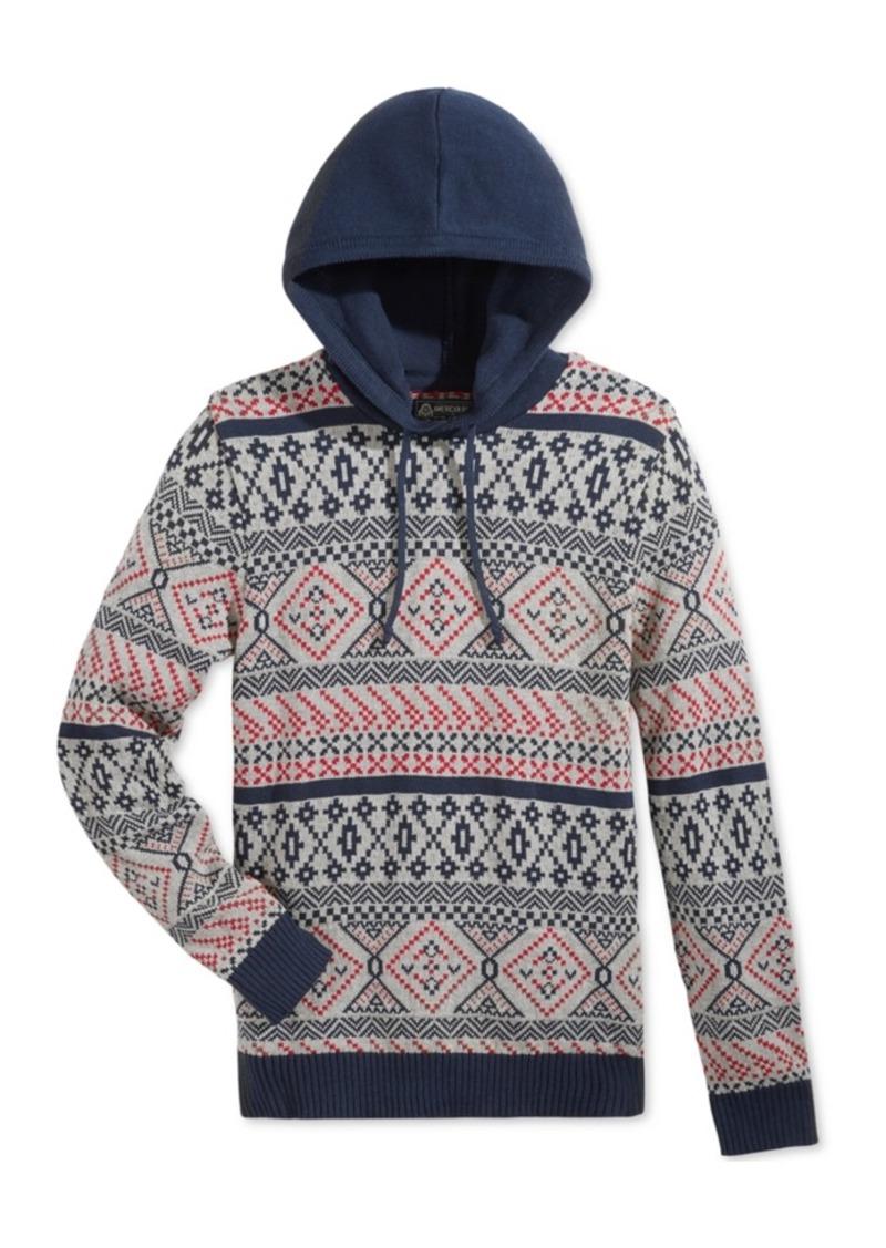 American Rag American Rag Men's Fair Isle Hooded Sweater, Only at ...