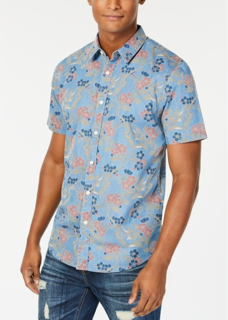 American Rag Men's Floral Branch Shirt, Created for Macy's