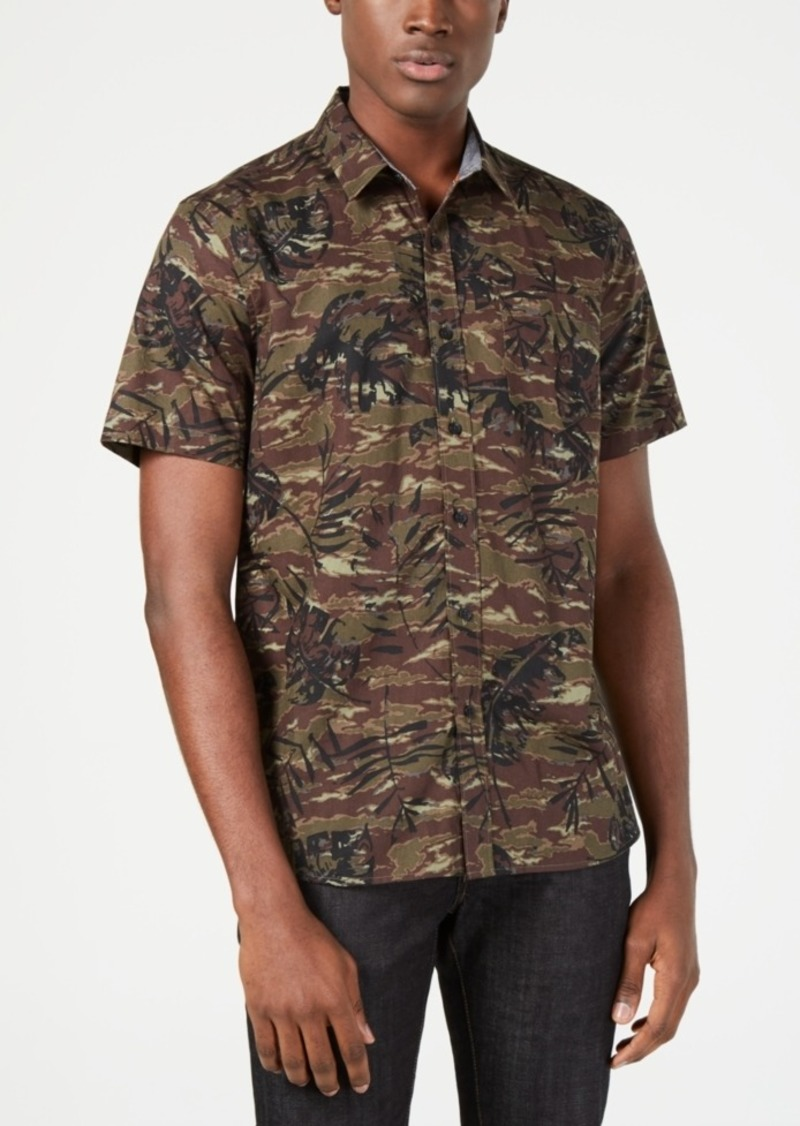 American Rag Men's Floral Camo Shirt, Created for Macy's