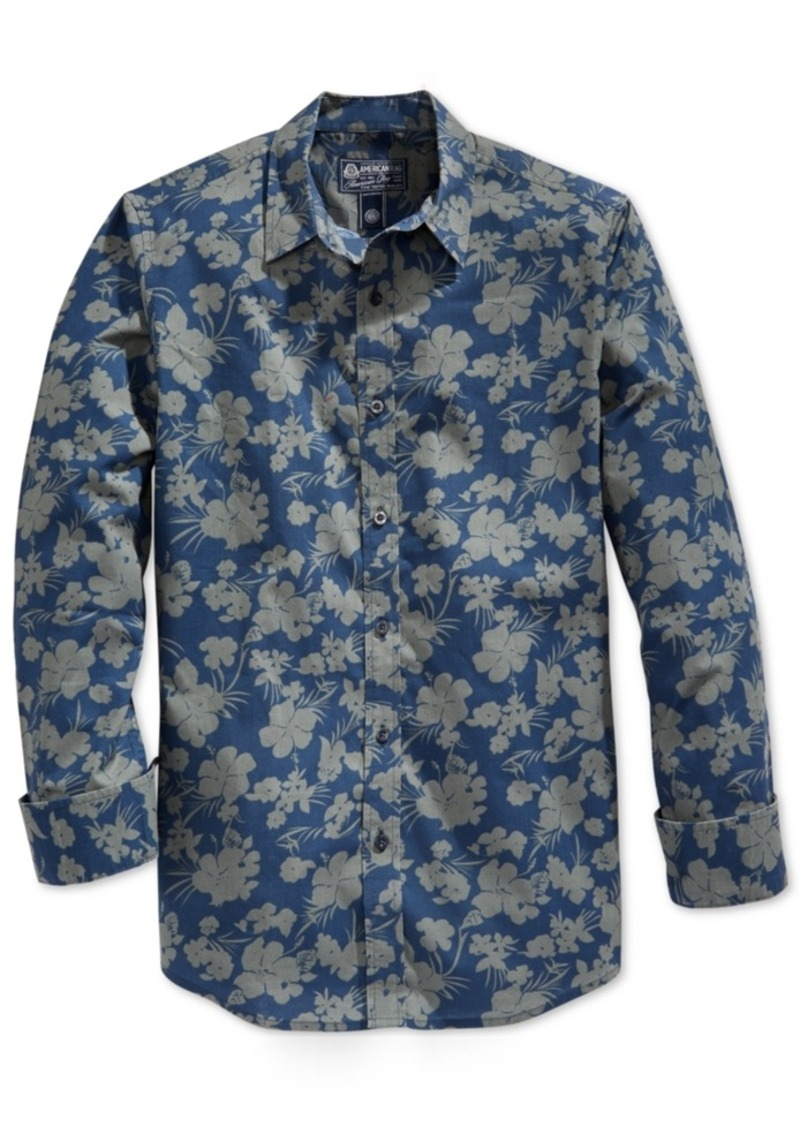 American Rag Men's Floral-Print Long-Sleeve Shirt, Only at Macy's