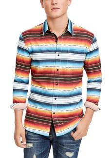 American Rag Men's Frequency Striped Shirt, Created for Macy's