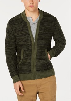 American Rag Men's Full Zip Sweater Bomber, Created for Macy's
