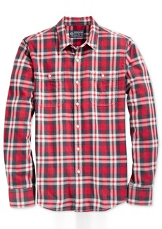 American Rag Men's Washed Plaid Shirt, Created for Macy's