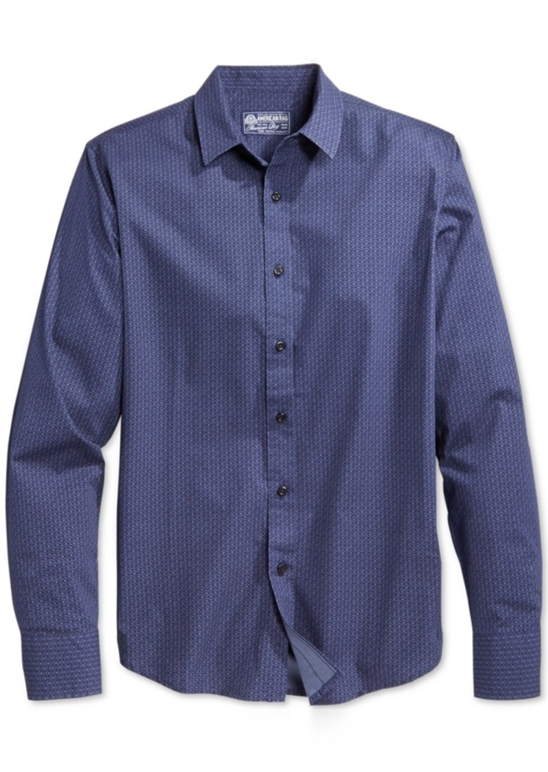 American Rag Men's Geo-Print Long-Sleeve Shirt, Only at Macy's