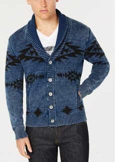 American Rag Men's Geometric Shawl-Collar Cardigan, Created for Macy's