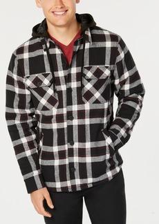 American Rag Men's Grand Plaid Hooded Shirt Jacket, Created for Macy's