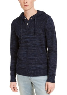 American Rag Men's Heathered Henley Hoodie, Created For Macy's