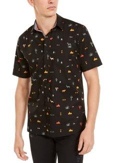 American Rag Men's Hieroglyphics Print Shirt, Created For Macy's
