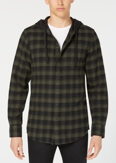 American Rag Men's Hooded Marlen Plaid Shirt, Created for Macy's