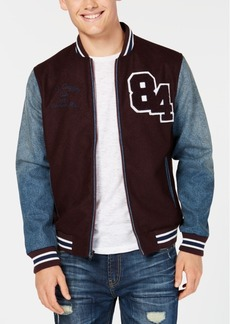 American Rag Men's Hybrid Varsity Bomber Jacket, Created for Macy's