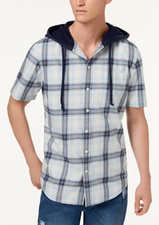 American Rag Men's Ian Plaid Hooded Shirt, Created for Macy's