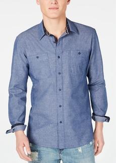 American Rag Men's Jacquard Pin Dot Shirt, Created for Macy's
